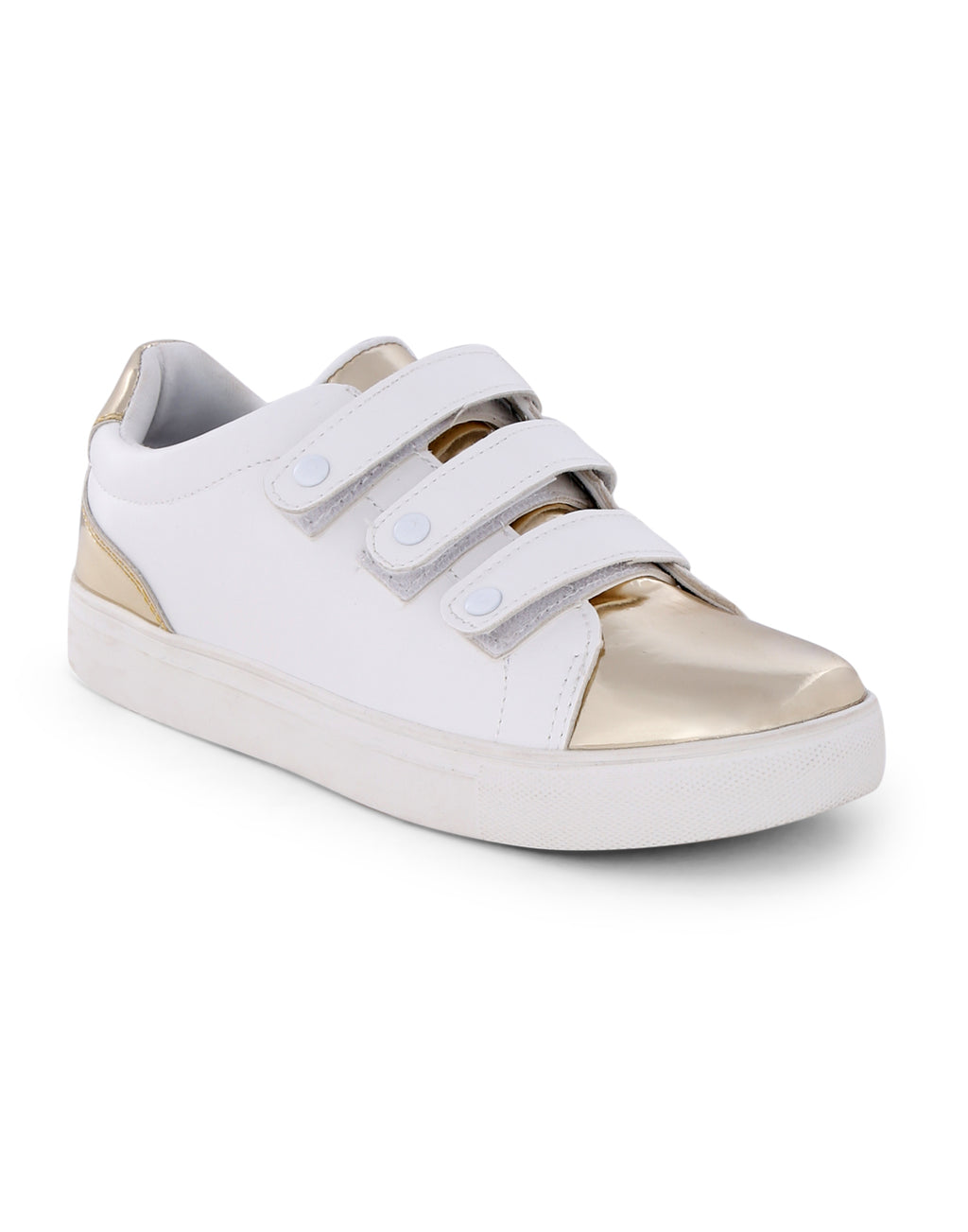 Polaris White Gold Tipped Sneakers