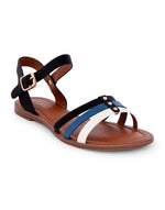 Nahiaa Black Multicoloured Sandals