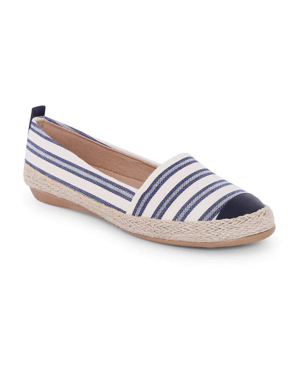 Anfisa Navy Stripped Espadrilles