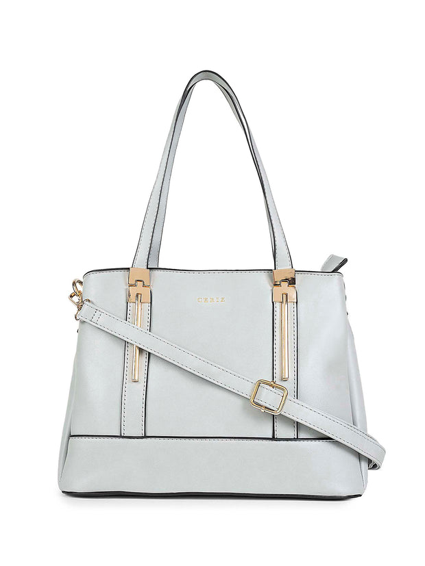 Apollonia Light Grey Handbag