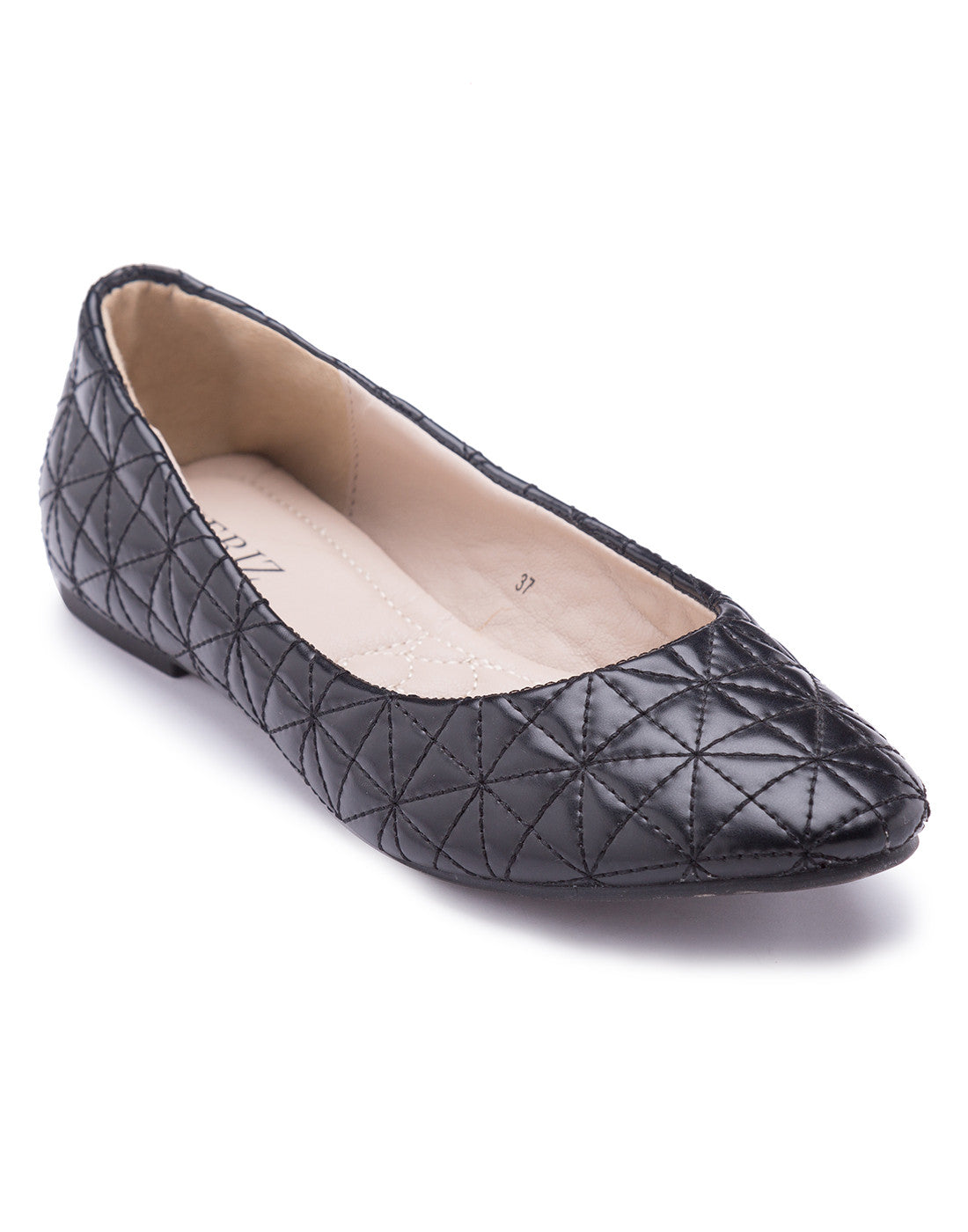 Dravite Quilted Ballerinas