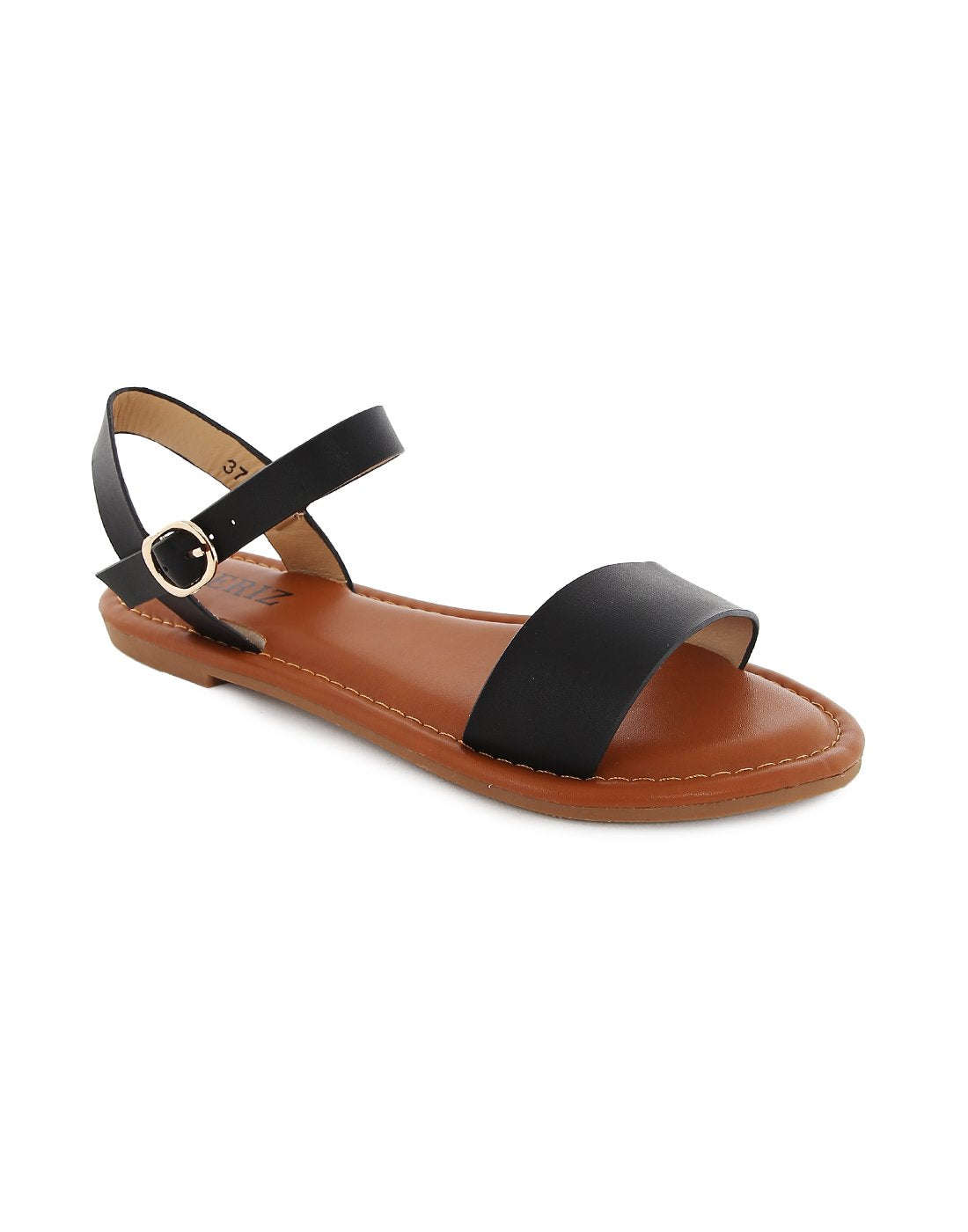 Midas Basic Black Sandals