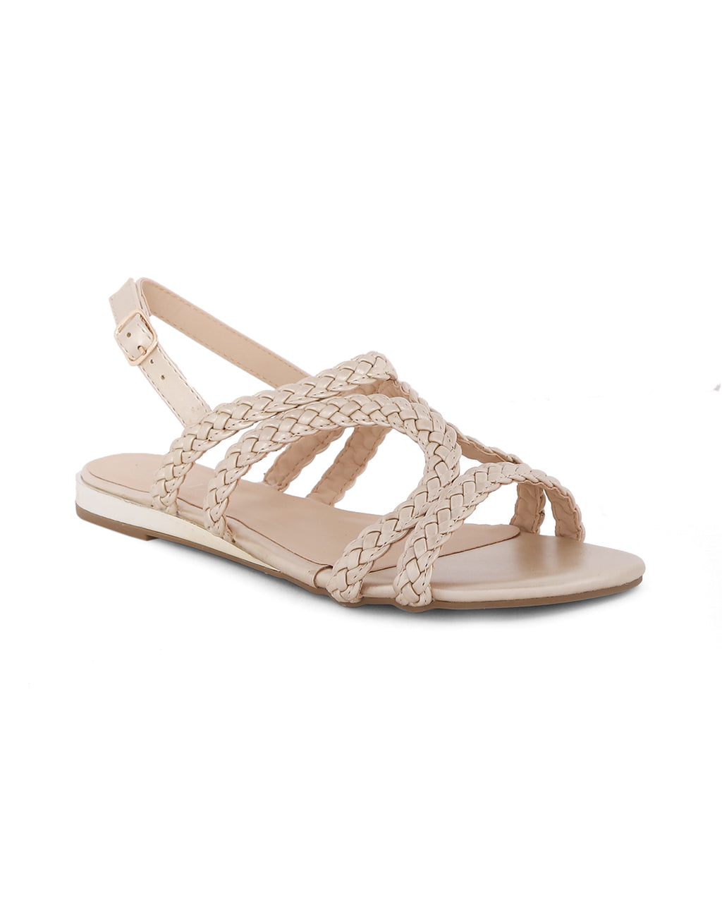 Wisteria Gold Braided Sandals