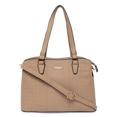 Ninette Taupe Shoulder Bag
