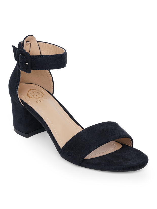Aimee Navy Suede Sandals