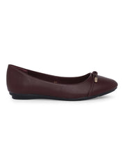 Doreen Burgundy Ballerinas