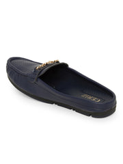 Didiane Navy Slip-On Loafers