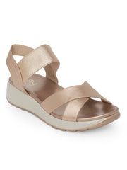 Urilla Rose Gold Comfort Sandals