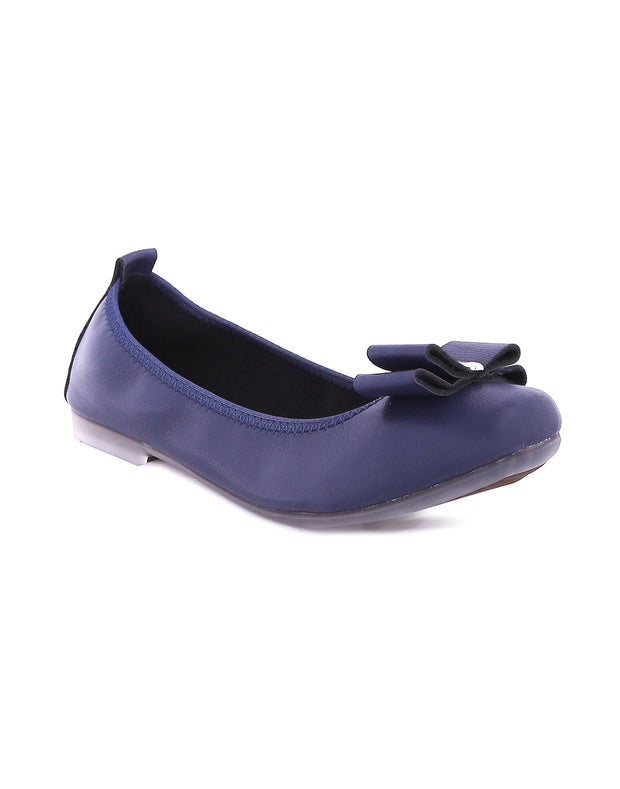 Rentia Navy Roll Up Ballerinas
