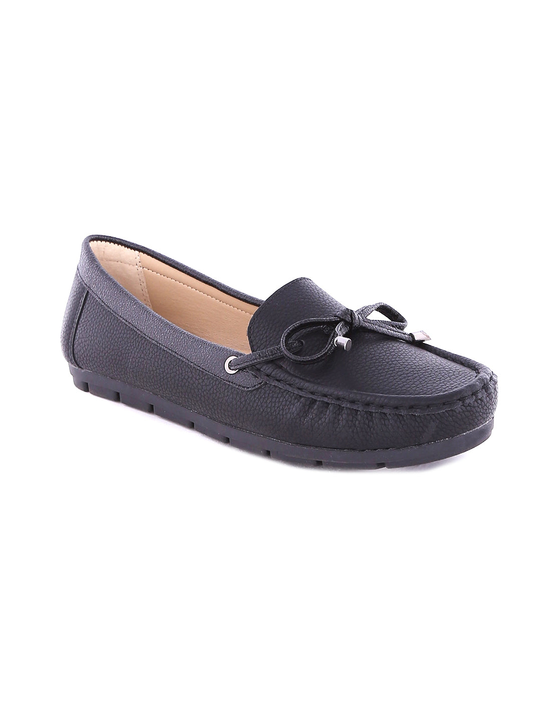 Berenicea Black textured Loafers