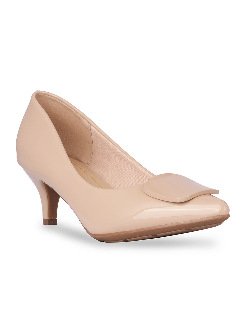 Elle Nude Pointed Toe Pumps