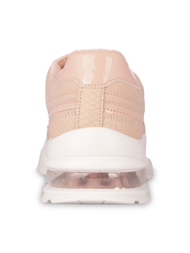 Louisa Lace-Up Nude Sneakers 3
