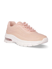Louisa Lace-Up Nude Sneakers