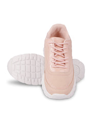 Louisa Lace-Up Nude Sneakers 5