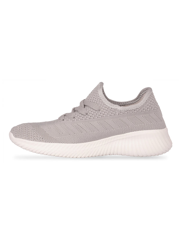 Oceane Fly Knit Grey Sneakers 2