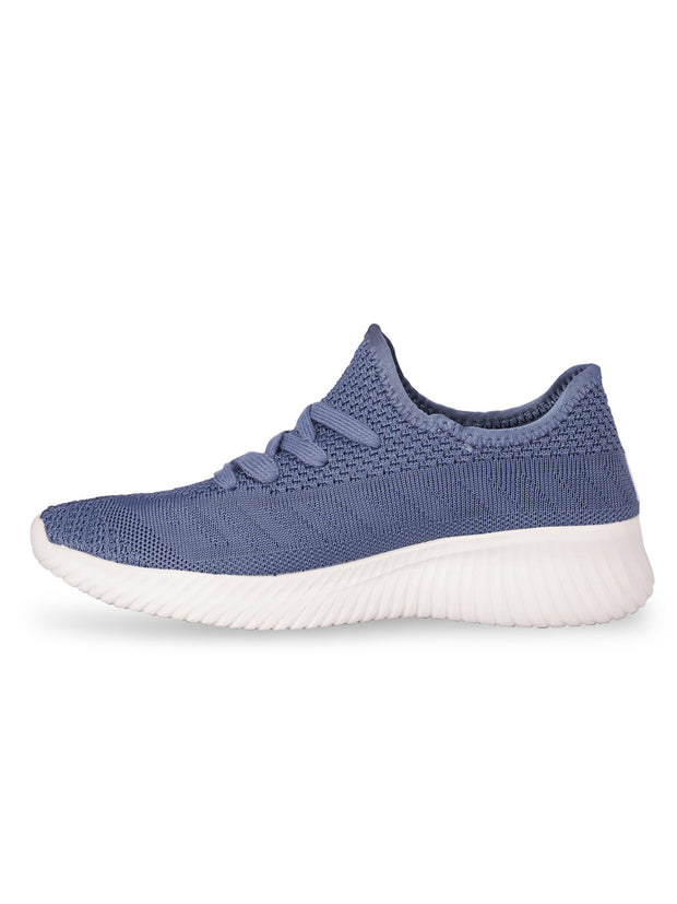 Oceane Fly Knit Navy Sneakers 2