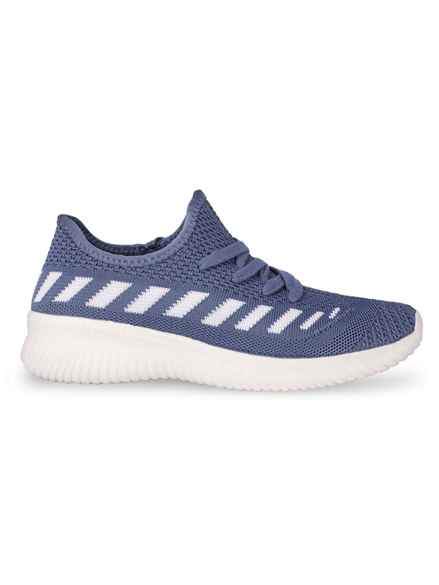 Oceane Fly Knit Navy Sneakers 1