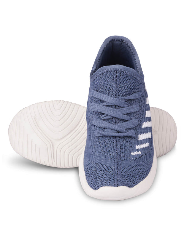 Oceane Fly Knit Navy Sneakers