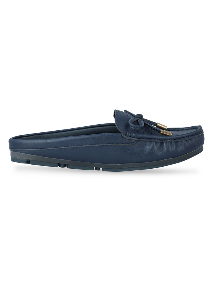Stephanie Slip-on Navy Loafers 1
