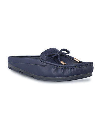 Stephanie Slip-on Navy Loafers