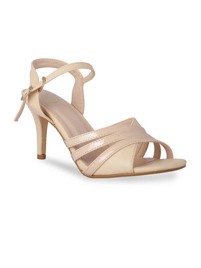 Ezme Beige Open Toe Stilettos