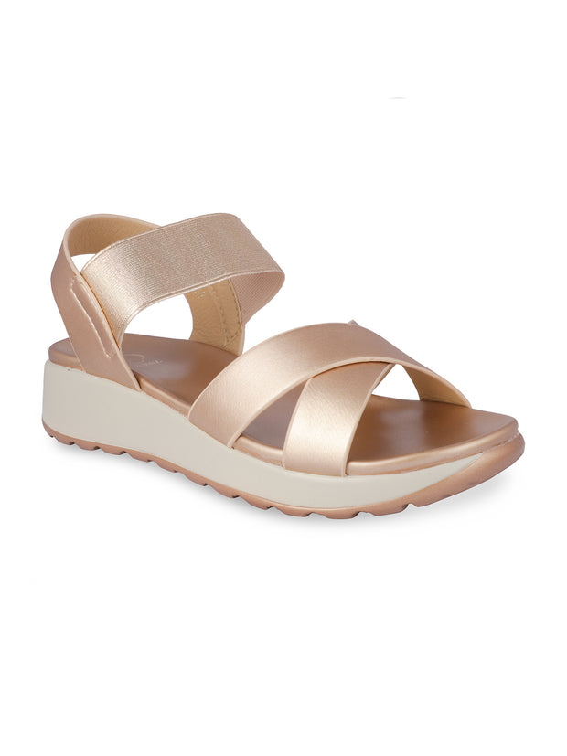 Maelys Rose Gold Comfort Sandals