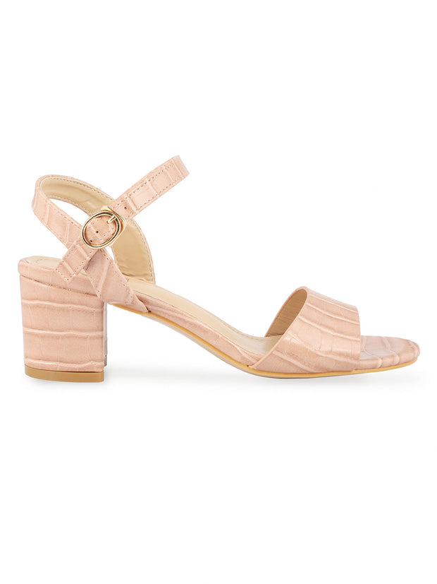 Kate Open Toe Light Pink Sandals 1