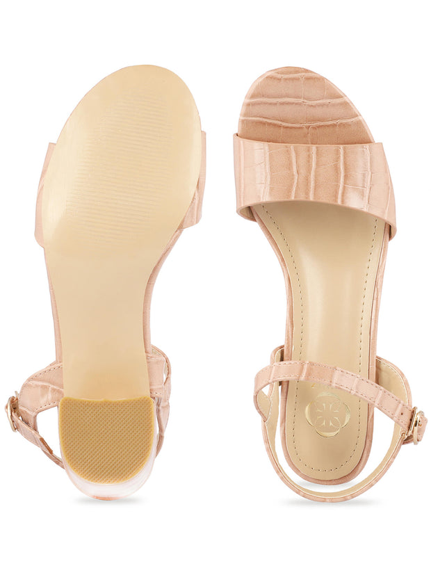 Kate Open Toe Light Pink Sandals 3