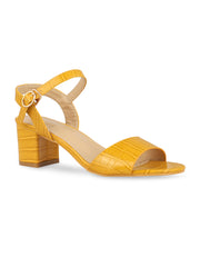 Kate Open Toe Mustard Sandals