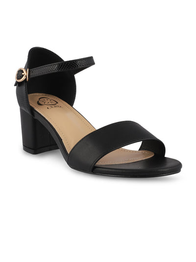 Winona Open Toe Black Sandals