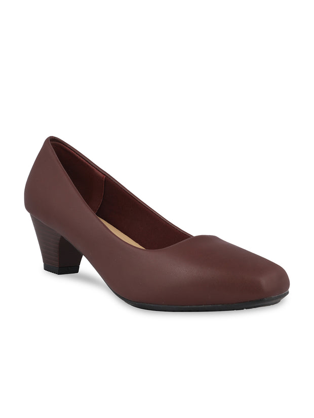 Emelda Burgundy Formal Pumps