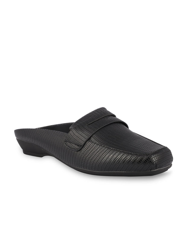 Martine Slip-on Black Loafers