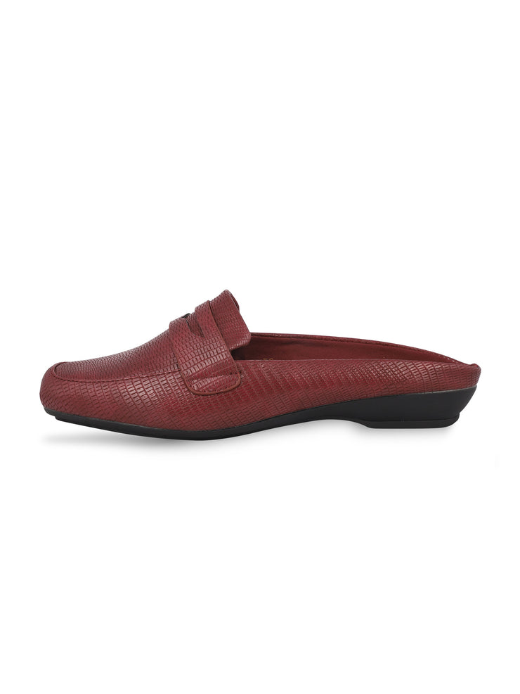 Martine Slip-on Burgundy Loafers 2
