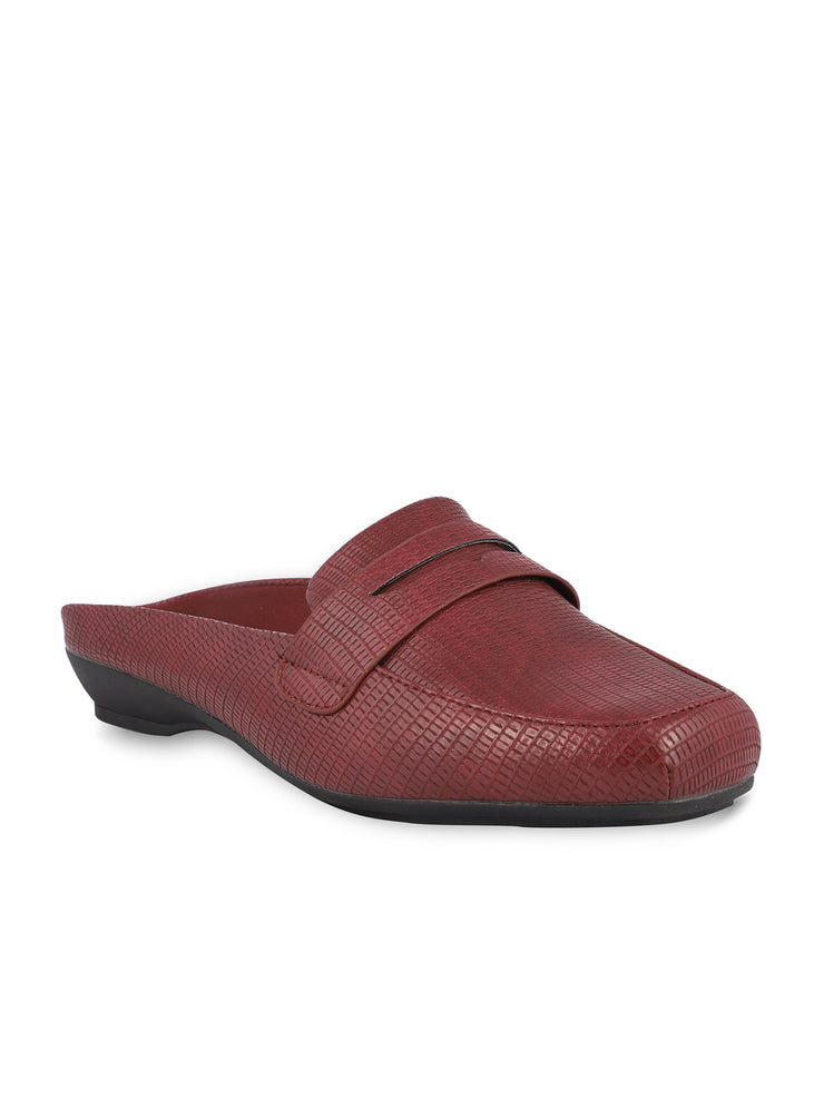 Martine Slip-on Burgundy Loafers