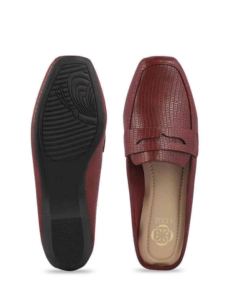 Martine Slip-on Burgundy Loafers 4