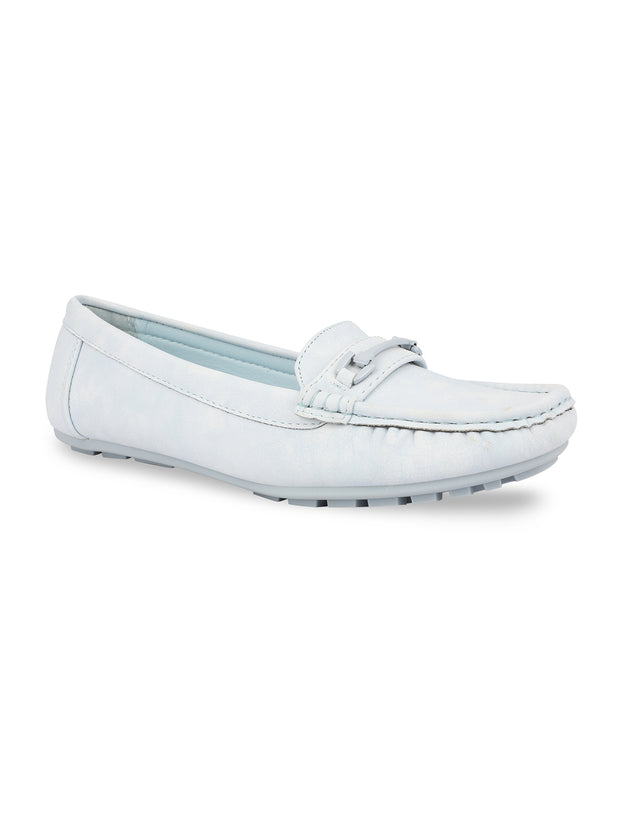 Floriane Powder Blue Loafers