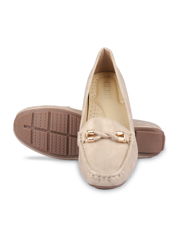 Delacroix Classic Beige Loafers 5