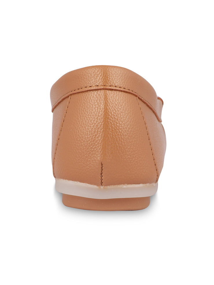 Anne Round Toe Camel Loafers 3
