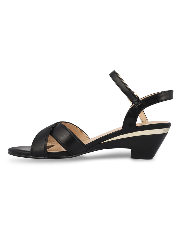 Angelique Black Open Toe Sandals