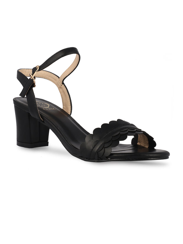 Musette Black Block Heel Sandals
