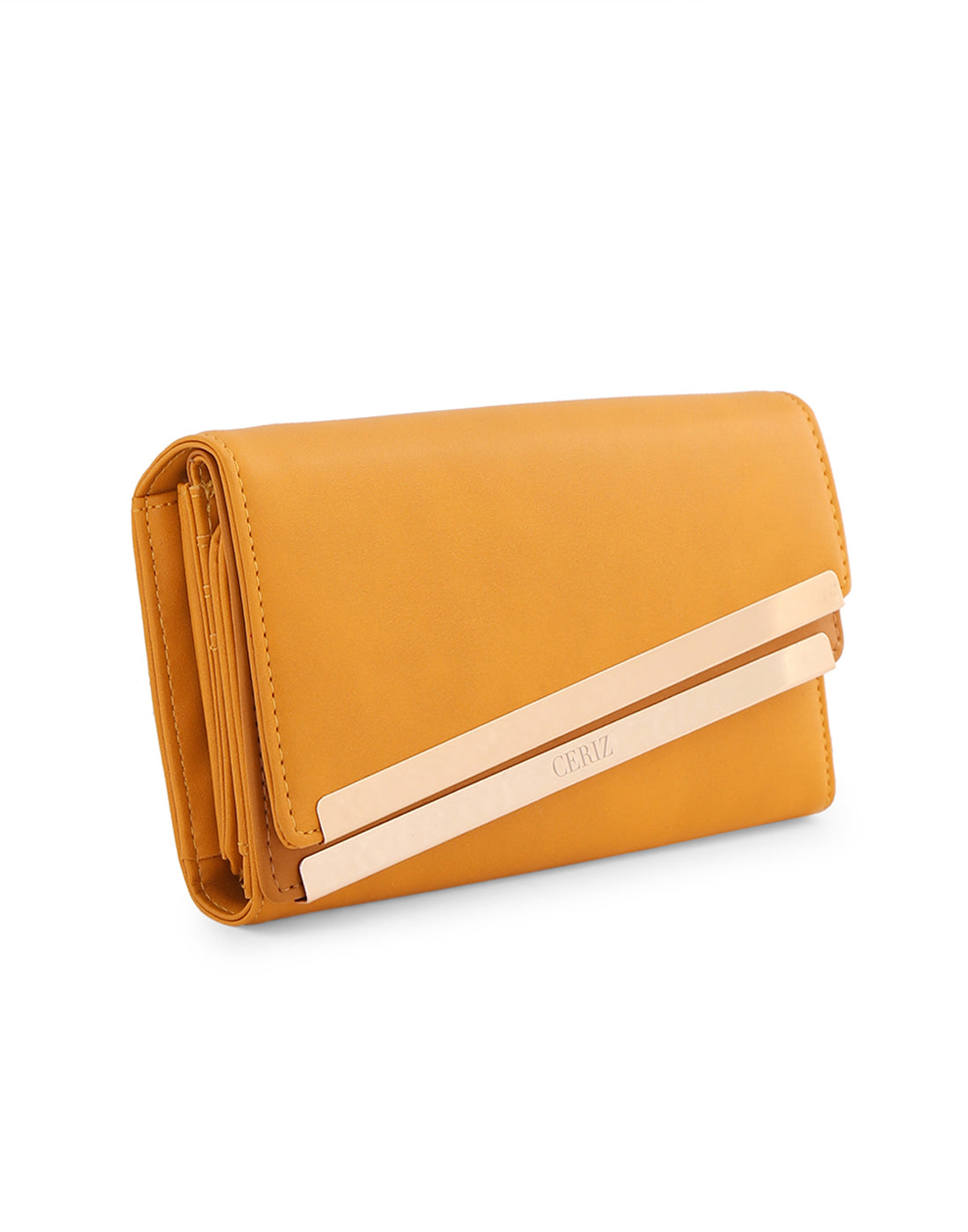 Petraa Mustard Gold Tipped Wallet
