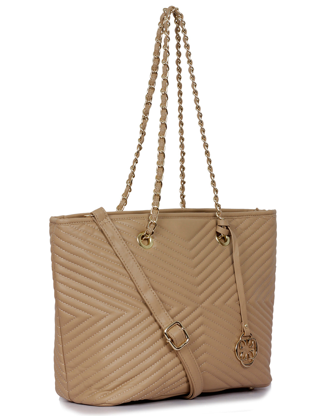Aella Gold Tone Tote Bag