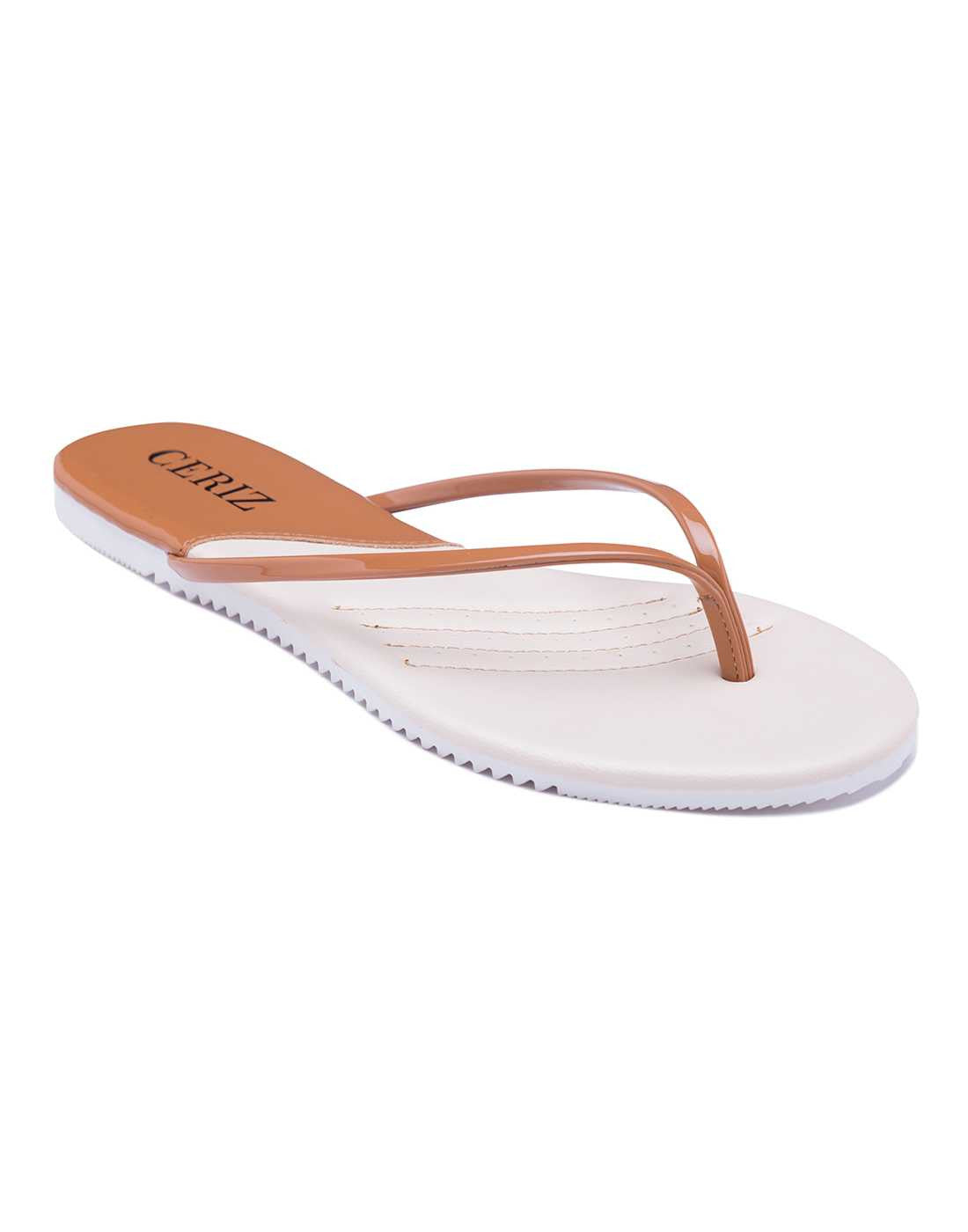 Brown and Beige Flip Flop