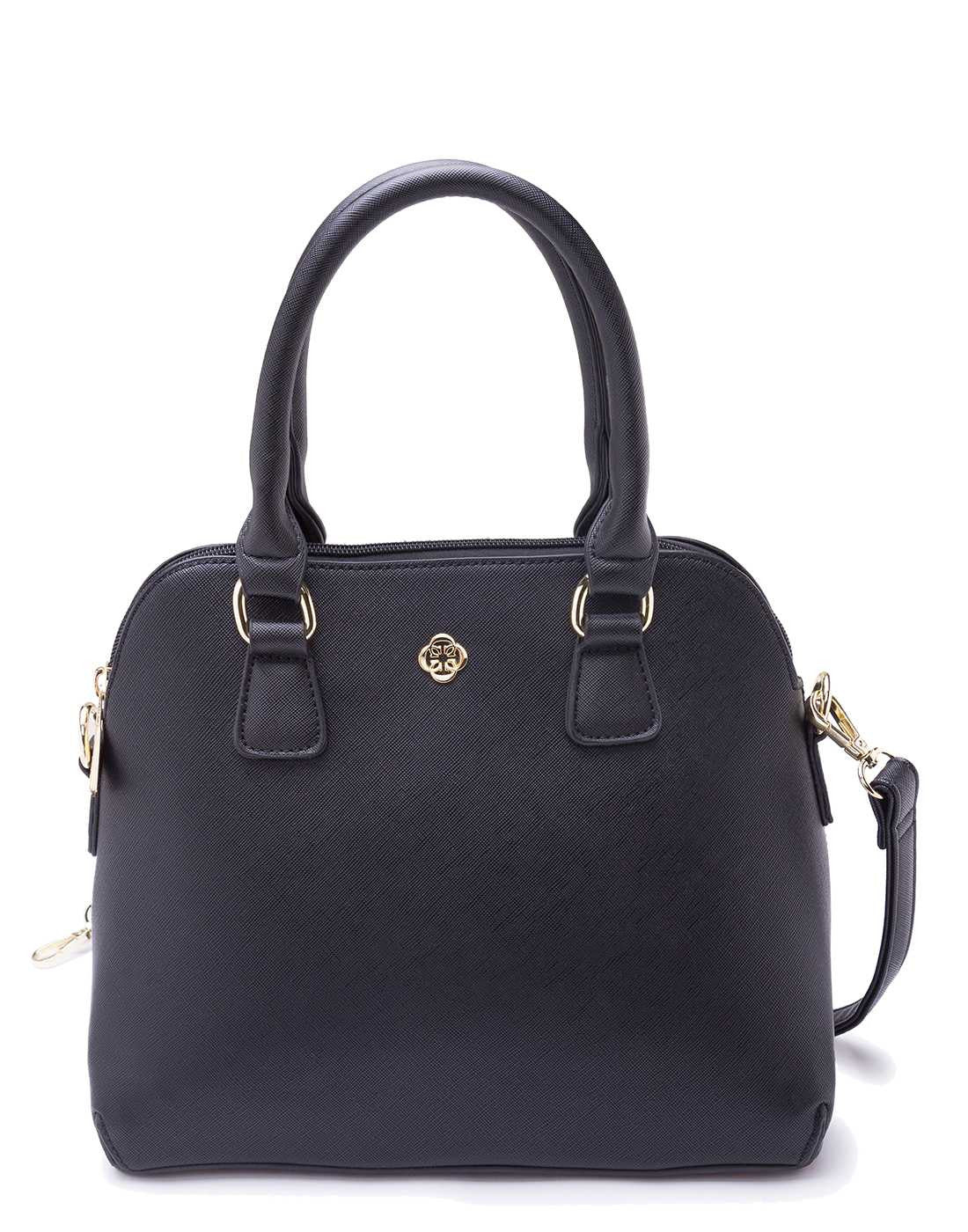 Black Structured Handbag