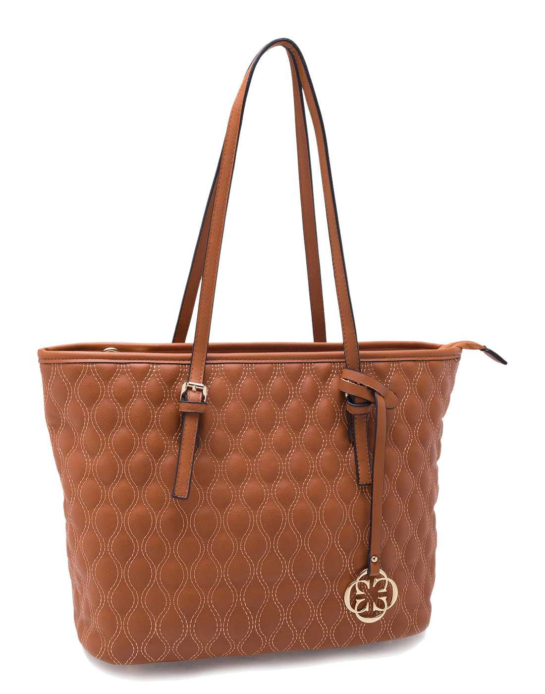 Camel Quilted Tote