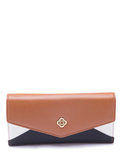 Panelled Tan and Black Wallet