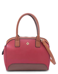 Red Structured Handbag