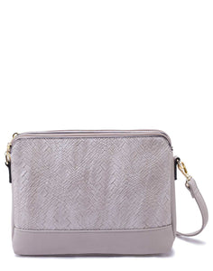 Beige Sling Bag with Textured Front