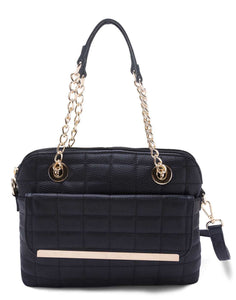 Quilted Black Sling Bag
