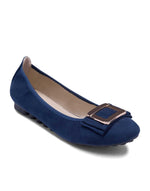 Navy Blue Roll-up Ballerinas